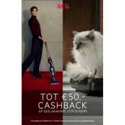 AEG stofzuiger: Tot €50 Cashback