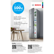Bosch: Cashback Bottom-Freezers NoFrost met VitaFresh
