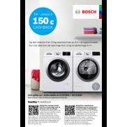 Bosch: Cashback  9 en 10 kg wasmachines en A+++ droogautomaten