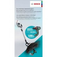 Steelstofzuiger Unlimited: Cashback of gratis Bosch Advanced Drill