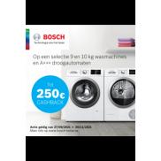 Bosch Wassen en drogen: cashback