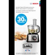 Bosch Foodprocessor: Tot €30 cashback