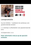 Canon: Lenscashback, actievoorwaarden via de link terug vinden.