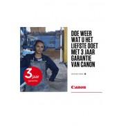 Canon: 3 jaar garantie
