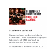 Canon Student Cashback