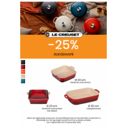 Ovenschotel aardewerk: 25% korting
