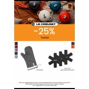 Ovenwant en pannenbeschermers: 25% korting