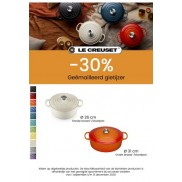 Ovale Cocotte 31 cm: 30% korting