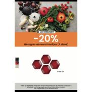 Le Creuset Hexagon serveerschaaltjes (4 stuks)