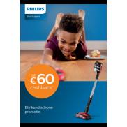 Philips steelstofzuiger: Tot €60 cashback