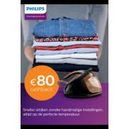 Philips stoomgeneratoren: Tot €80 cashback