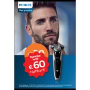 Philips Male Grooming tijdelijk 60 euro Cashback