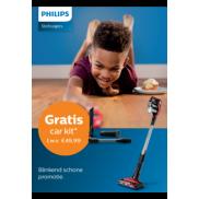 Philips steelstofzuiger: Gratis car kit twv €49.99