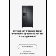 Samsung Koeling: Brabantia Bo Touch Bin gratis