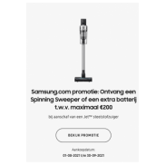 Samsung Steelstofzuiger Jet: Spinning Sweeper Brush gratis