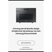 Samsung Inbouwkeukenapparaat: Brabantia Bo Touch Bin gratis