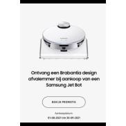 Samsung Jet Bot: Gratis Brabantia Bo Touch bin