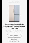 Ontvang een Brabantia Bo Touch Bin in Champagne bij aankoop van een Bespoke koelkast