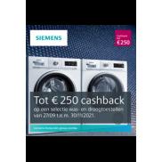 Siemens wassen en drogen: Herfstactie