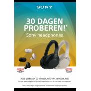 Sony: Hoofdtelefoons 30 dagen proberen
