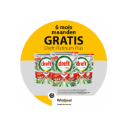 Whirlpool Vaatwasser: 6 maanden Dreft Platinum Plus gratis