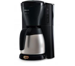 Zwart koffiezetapparaat met timer en thermische kan Philips