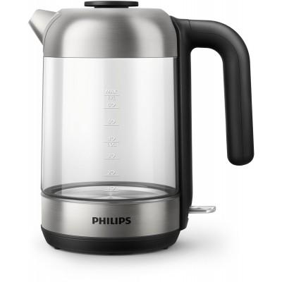 Glazen waterkoker, 1,7 liter, afneembare deksel Philips