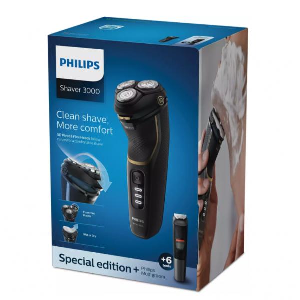 Philips Scheerapparaat Wet & Dry elektrisch scheerapparaat, Series 3000 S3333/58