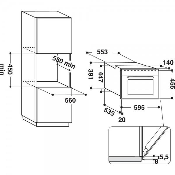 Whirlpool Microgolfoven inbouw AMW 805/IX