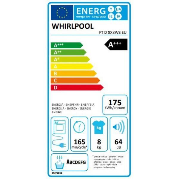 Whirlpool Droogkast FT D 8X3WS EU