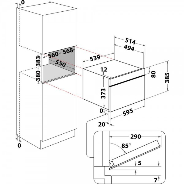 Whirlpool Microgolfoven inbouw AMW 730 IX