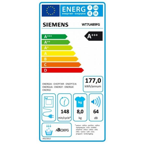Siemens Droogkast WT7U489FG