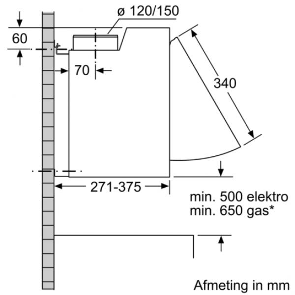 Siemens Dampkap LE66MAC00
