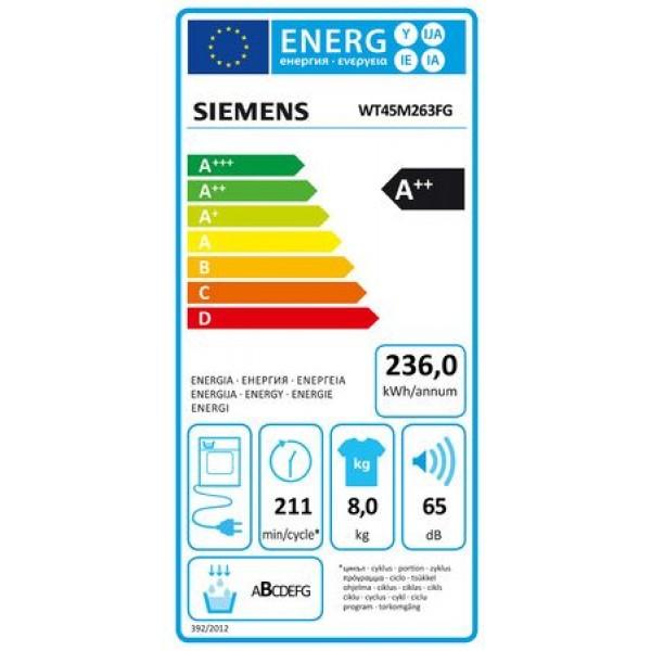 Siemens Droogkast WT45M263FG