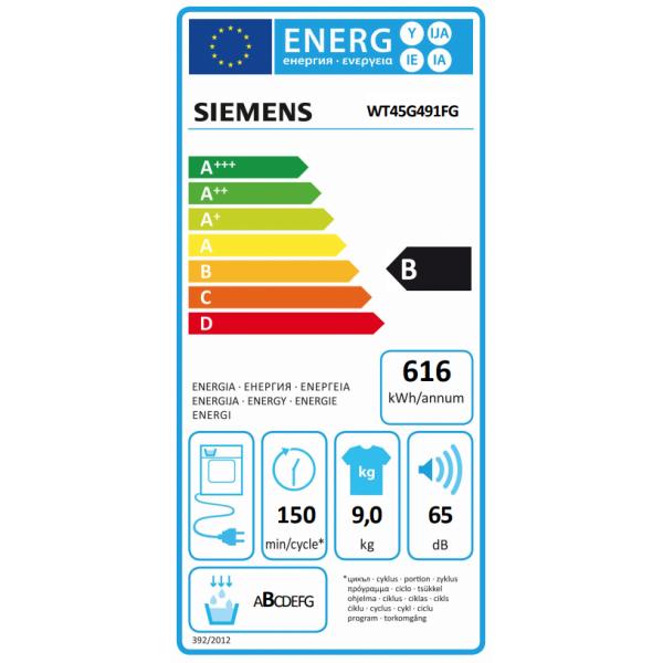 Siemens Droogkast WT45G491FG