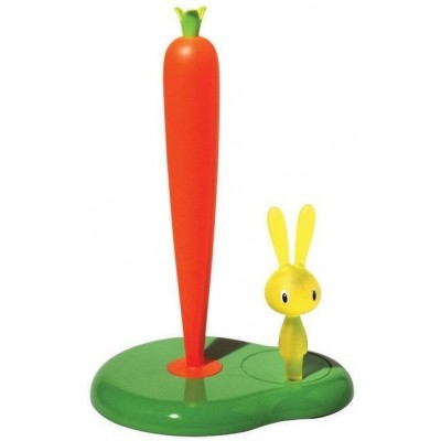 Bunny & Carrot Keukenrolhouder Groen 34cm   Alessi
