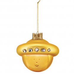 Kerstbal Baldassarre Gold  Alessi