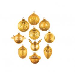 Set van 10 kerstballen Gold  Alessi
