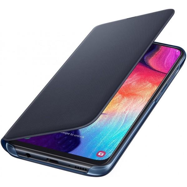 Samsung Flip Wallet voor Galaxy A50 Zwart