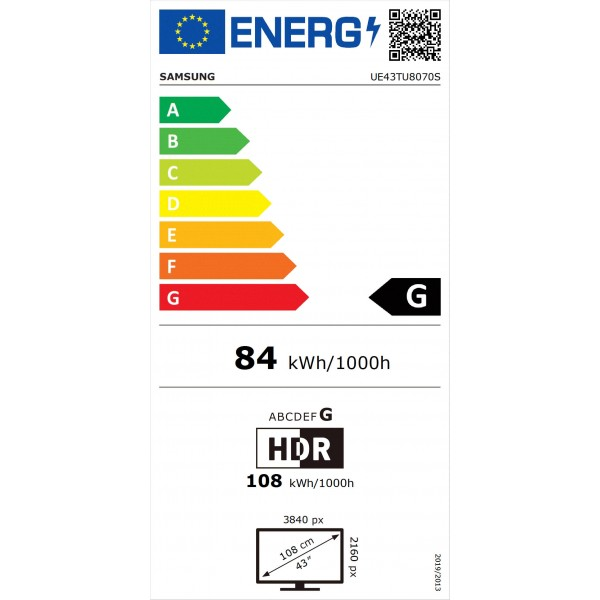Crystal UHD UE43TU8070 (2020) Samsung