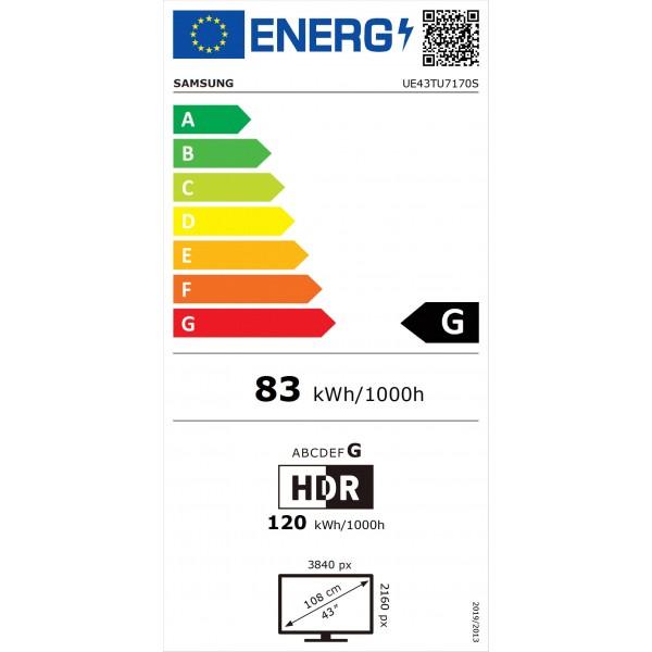 Crystal UHD UE43TU7170 (2020) Samsung