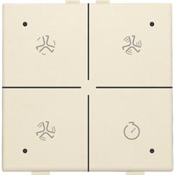 Ventilatiebediening met led voor Niko Home Control, cream
