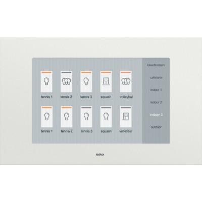 Huisautomatisering - touchscreen voor bediening van het huisautomatiseringssysteem  Niko
