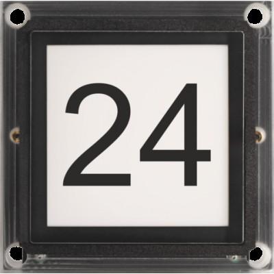 Huisnummer/info-module voor modulaire buitenpost  Niko