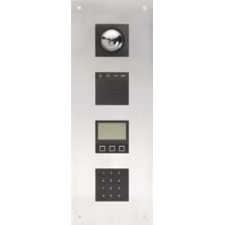 Modulaire videobuitenpost voor inbouw met 4 modules: domecamera, audio, display en codeslot  Niko