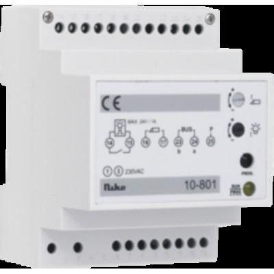 Modulaire voeding voor een toegangscontrolesysteem met max. 20 binnenposten en 2 buitenposten (deur- of videofonie)  Niko