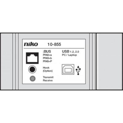 Niko Toegangscontrole - PC-interface voor programmering en configuratie.  Niko