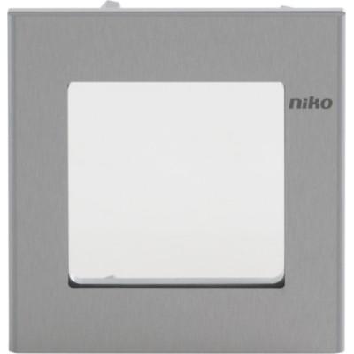 Niko Toegangscontrole - afdekkader voor inbouwcameramodule, aluminium  Niko