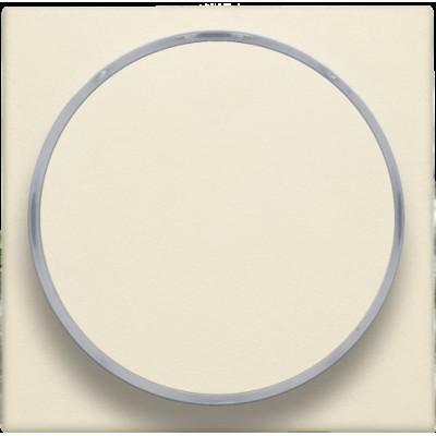 Afwerkingsset met doorschijnende ring zonder symbool voor drukknop 6 A met amberkleurige led met E10-lampvoet, cream  Niko