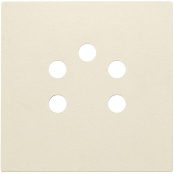 Afwerkingsset voor 5-polige telefooncontactdoos, cream